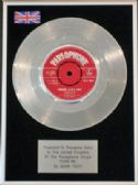"ADAM FAITH -7"" Platinum Disc- POOR ME"